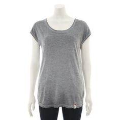 Grey Cut Out Braided Back Top