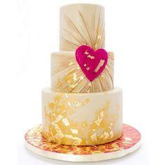 Beautiful cake with heart