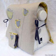 """Чудесные идея для рукодельниц. Оденьте свою помощницу-швейную машину в красивое """"платье""""."""