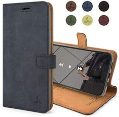 Real Leather Wallet, Leather Phone Case, Iphone 11, Apple Iphone, Soft Leather, Slot, Card Holder, Phone Cases, Navy