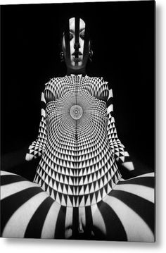 0516 Experimental Abstract Nude Art Metal Print by Chris Maher