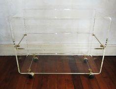 Three Shelf Perspex Trolley