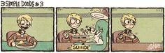 Kid 'n Teenagers (En español) - 3 Simple Doods Wattpad, Z Toon, Beste Comics, Funny Comic Strips, Kid N Teenagers, Short Comics, Fun Comics, Stories For Kids, Funny Cute
