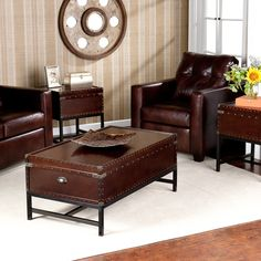 Have to have it. Southern Enterprises Voyager Trunk Table Collection $599.99