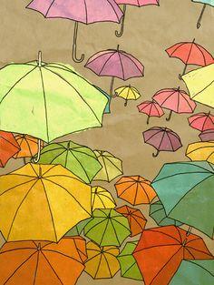 Raining Umbrellas  Tram Le;trumpetwithme