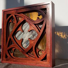 cnc layered metal art | wood and glass window $ 225 stained glass and four layers of hand ...
