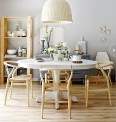 Interior Scandinavian style on a budget is part of Scandinavian dining room - Style at Home style and food editor Tara Ballantyne creates a budgetfriendly look that's all her own Scandinavian Style Home, Scandinavian Interior Design, Scandi Style, Nordic Style, Scandinavian Kitchen, Scandinavian Dining Chairs, Scandinavian Bedroom, Scandinavian Furniture, Dining Room Inspiration