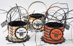 Halloween baskets from toilet paper roll...or make them for any occasion! Cute!