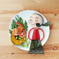 Who remembers Olive Oyl?! Lee Samantha, Food Artist