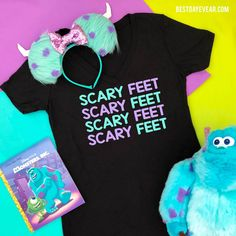Monster's Inc Scary Feet Shirt - The perfect Monsters Inc shirt or Disney family shirt- Disney shirts featuring Sully, Mike Wazowski and Boo Matching Disney Shirts, Disney Shirts For Family, Family Shirts, Disney Family, Dad To Be Shirts, Couple Shirts, Disney Monsters, Disney Pixar, Monsters Inc Shirt