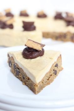 Peanut Butter Chocolate Chip Cookie Cake with Peanut Butter Frosting // Inquiring Chef