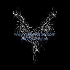 Necklace Rhinestone Heat Transfers For DIY Hand Embroidery Patterns, Beaded Embroidery, Jewelry Design Drawing, Rhinestone Art, Crystal Fashion, Designs To Draw, Rhinestones, Needlework, Knitwear