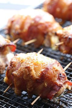 Bacon Wrapped Chicken Thighs with Honey Dijon Glaze