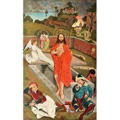 Christliche Kunst 5 1908 The Resurrection of Christ Canvas Art - Hans Pleydenwurff (18 x 24)