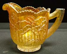 *EARLY CARNIVAL GLASS ~ Creamer Pansies