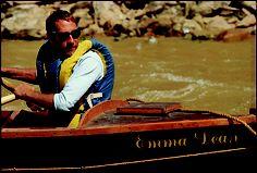 Dee Holladay running a Ghost Boat trip in a replica of The Emma Dean ~ http://www.bikeraft.com/