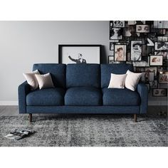 Find US Pride Furniture Sofas, Dark Blue online. Shop the latest collection of US Pride Furniture Sofas, Dark Blue from the popular stores - all in one Living Room Seating, My Living Room, Living Room Decor, Sofa Furniture, Living Room Furniture, Furniture Design, Blue Furniture, Sofa Upholstery, Toss Pillows
