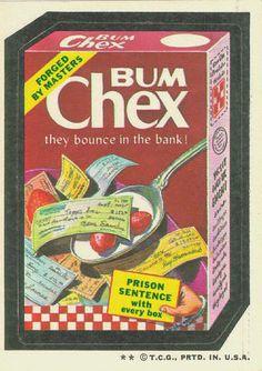 BUM CHEX Wacky Packages 4th Series 1973   OldBrochures.com