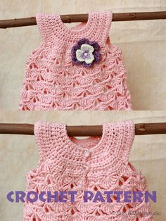 Baby CROCHET PATTERN Baptism baby girl dress pattern by GAMMAkids