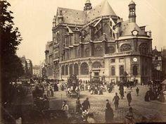 Eglise Saint-Eustache Paris avant 1880