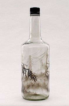 Ethereal Landscape Scenes Created by Filling Glass Bottles with Smoke - My Modern Met