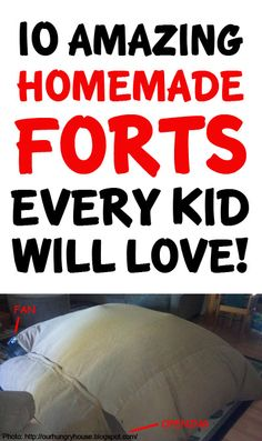 I'm so doing some of these with my kids this summer! http://lifeasmama.com/10-awesome-fort-ideas-to-build-with-your-kids/