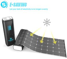 A device with retractable solar panel that allows for charging devices via USB. #USB #solarpower #charger #YankoDesign