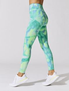 TIE DYE RIBBED 7/8 LEGGING Fitness Outfits, Workout Attire, Sports Leggings, Workout Tops, Tie Dye, Crop Tops, Stylish, Pants, Clothes