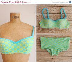 ON SALE 1960s Bikini  - Vintage 60s Terry Cloth Two Piece Bathing Suit - Tampa Bay Bikini