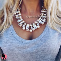 Náhrdelník Picasso White #necklace #necklaces #accessories #bijouterie #bizuteria #nahrdelník #jewelry  http://femmefashion.sk/nahrdelniky/2535-nahrdelnik-picasso-white.html
