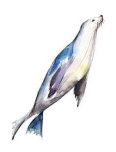 Watercolor Whale, Watercolor Sketchbook, Watercolor Animals, Watercolor Paintings, Watercolors, Easy Watercolor, Creature Drawings, Animal Drawings, Ocean Tattoos