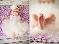 Lavender + grey + adorable tutu!!! Great outfit for baby girl photos! Photo by Krista Lee