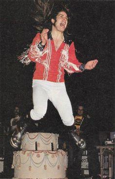 "blacksabbathica: ""Ozzy Osbourne on stage at Madison Square Garden on December 1975 (Ozzy's birthday) "" Ozzy Osbourne Black Sabbath, Mick Mars, Prince Of Darkness, Sabbath Day, 27th Birthday, Madison Square Garden, Modern Love, Photo Series, Music Stuff"