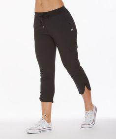 Look at this #zulilyfind! Black Stretch Woven Joggers #zulilyfinds