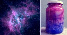 Las nebulosas están constituidas por gases y elementos químicos en forma de polvo cósmico. En muchas de ellas nacen las estrellas mientras en otras se albergan los restos de estrellas extintas o en extinción. Con este proyecto, podrás recrear sus hermosos colores y texturas dentro de una botella.