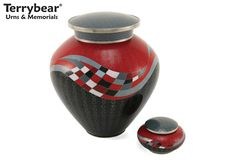 Cremation Urns Brass Funeral Urn Ashes Red Glenwood Small Heart Keepsake Urn with Stand Red