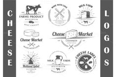 8 Cheese logo templates by Art Design on @creativework247