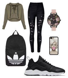 """Sans titre #10"" by giuliavincent on Polyvore featuring mode, NIKE, Topshop et Olivia Burton"