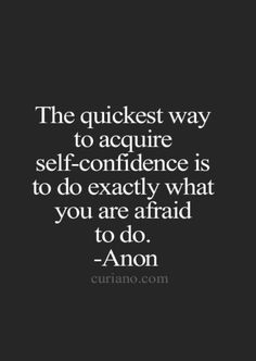 I'm learning this...it's true. Get out of your comfort zone and face your fears with your boxing gloves on.