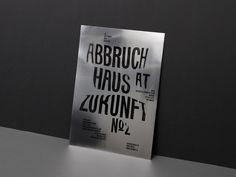 Kasper Florio / Abbruchhaus Zukunft / Poster / 2011