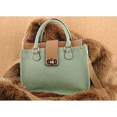 Candy colour, vintage design Hanaye - Womens fashion green shoulder #handbag