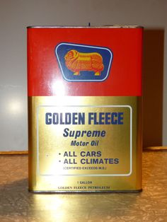 A very nice Golden Fleece Duo Supreme 1 gallon Motor oil can sold for $1500 AUD