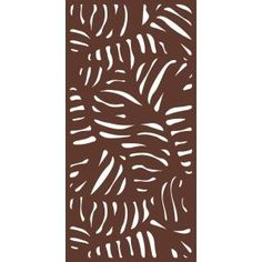 x 3 ft. Espresso Brown Modinex Decorative Composite Fence Panel Featured in the Panama - The Home Depot Decorative Fence Panels, Large Backyard Landscaping, Backyard Privacy, Backyard Patio, Outdoor Pergola, Landscaping Tips, Pergola Plans, Pergola Kits, Pergola Ideas