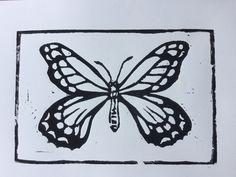 Butterfly Lino Cuts by Helene Fabb