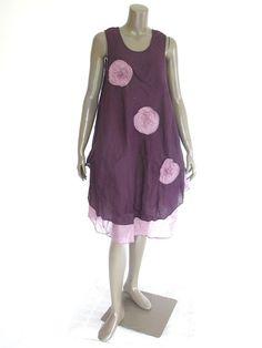 Purple Short Knee sleeveless Cotton Women Dress by NaniFashion, $39.00