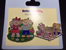 Hkdl Hong Kong Disney Disneyland Trading Pin Spring picnic Duffy Shelliemay Set