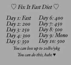 ana diet fix it fast