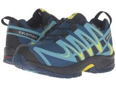 Salomon Kids Xa Pro 3D Cswp (Little Kid/Big Kid) (Midnight Blue/Blue Gum/Corona Yellow) Boys Shoes