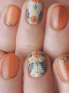 Gold Nail Art, Pink Nail Art, Gold Nails, Pink Nails, Autumn Nails, Winter Nails, Cute Nail Designs, Acrylic Nail Designs, Hair And Nails