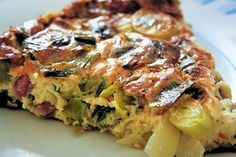 Recipe clafoutis leeks and bacon by Valérie: To change a little I want to Clafoutis Recipes, Tart Recipes, Pizza Recipes, Quiches, Chicken Tikka Masala Rezept, Clean Eating Recipes, Healthy Recipes, Food Inspiration, Entrees